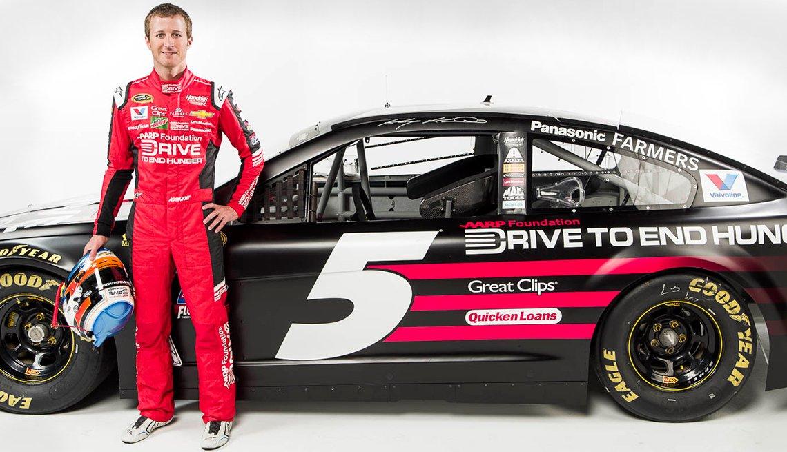 Kasey Kahne NASCAR driver AARP Drive to End Hunger