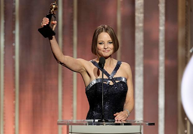 Jodie Foster, receives the Cecil B. Demille Award, during the 70th Annual Golden Globe Awards at the Beverly Hilton Hotel on Jan. 13, 2013, in Beverly Hills, California. (NBC/AP)