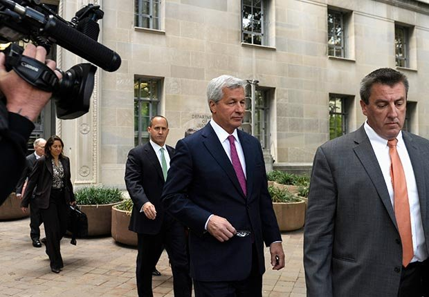 JPMorgan Chase Chairman, President and CEO Jamie Dimon, leaves the Justice Department in Washington, D.C. (Susan Walsh/AP)
