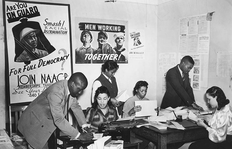 A group of student activists working on a campaign for the equal treatment of African American teachers in Norfolk, Virginia, Historical Review of Leading Black Civil Rights Organizations