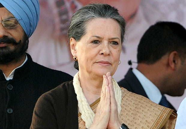 Chairperson of India's Congress-led UPA government Sonia Gandhi