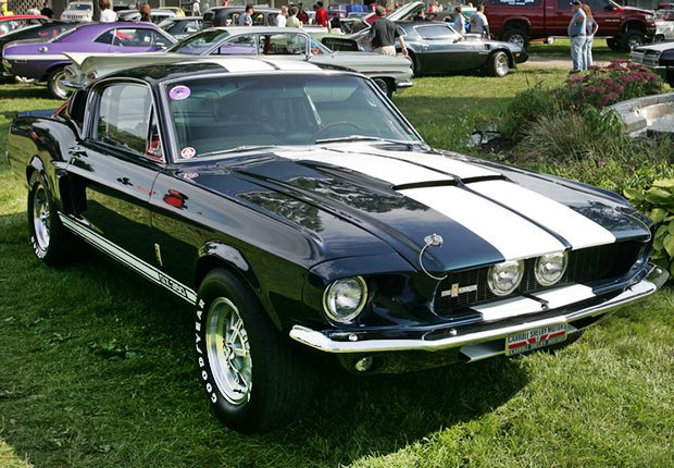 A 1967 Ford Mustang Shelby GT500 being shown off at the 21st Annual Adirondack Nationals in Lake George, NY
