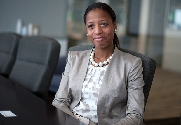 Mia Love is interviewed at an office in Washington, D.C.