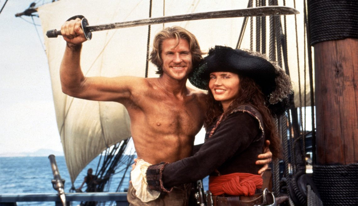 Geena Davis and Matthew Modine in 'Cutthroat Island'