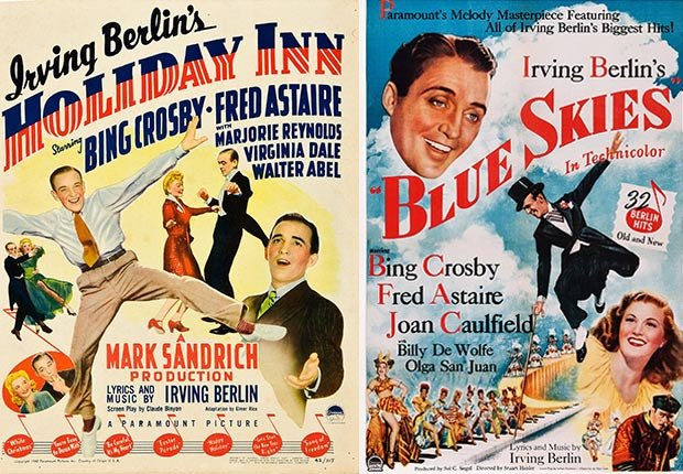 """Bing Crosby's third and final film performance singing """"White Christmas"""" was preceded by Holiday Inn"""