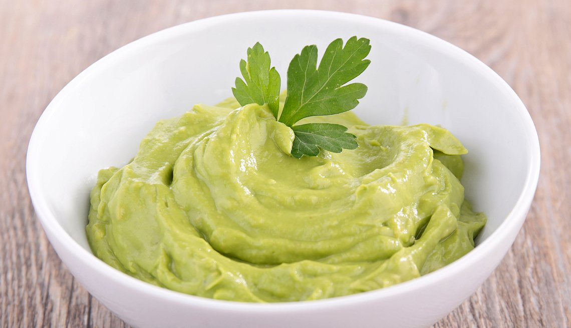 Avocado spread, white bowl, healthy fats, Trends in 2015