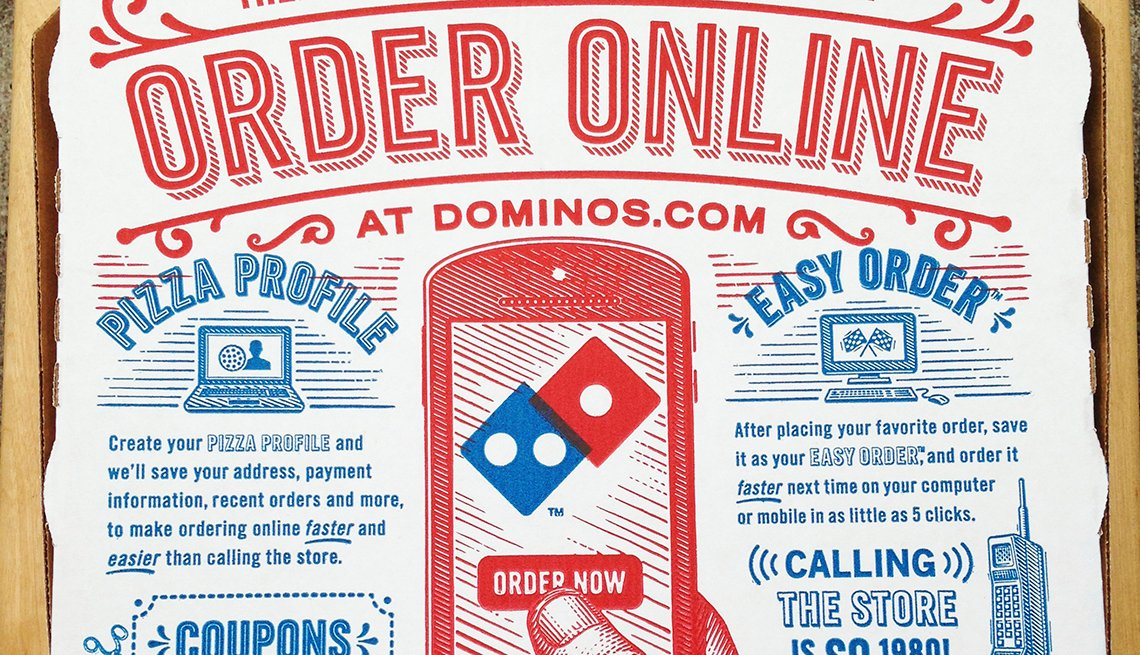 Domino's pizza box, delivery business, order online, Trends in 2015