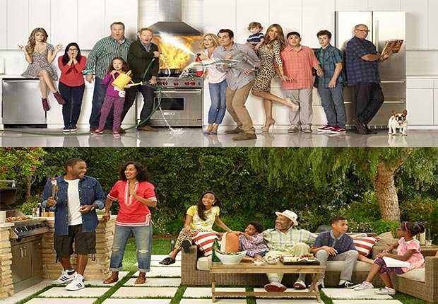 Cast of Modern Family television show. Cast of television show Black-ish, 2014/2015 Out/In List