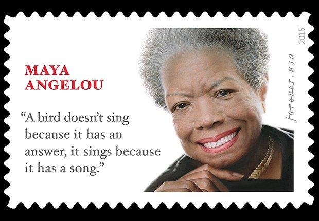 Maya Angelou stamps