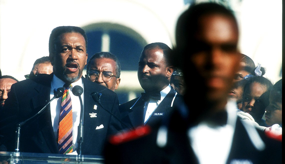 Civil rights leader Benjamin Chavis Jr., founder of the National African American Leadership Summit, served as the march's national director. Chavis and the committee organized the march, and Louis Farrakhan was the march's leader and spokesman.