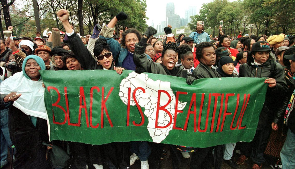 Two years later, the Million Woman March was held in response to concerns that black women had been excluded from the 1995 march. It started at the Liberty Bell in Philadelphia and ended on the steps of the Philadelphia Art Museum.