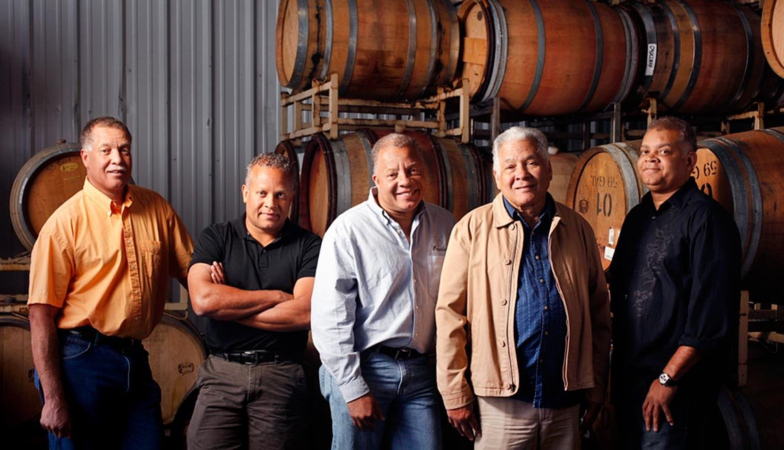 Murio Sterling and sons Eric, Chris, Steve and Craig of Esterlina Vineyards and Winery, Mendocino, Calif.