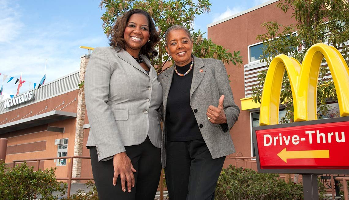 Patricia Williams and daughter Nicole Enearu owners of McDonald's in the Los Angeles area