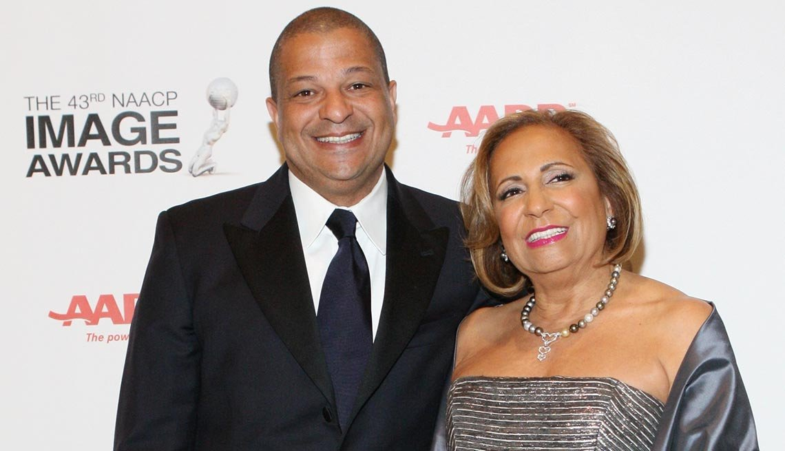 Cathy Hughes and son Alfred C. Liggins III of Radio One, Washington, D.C.