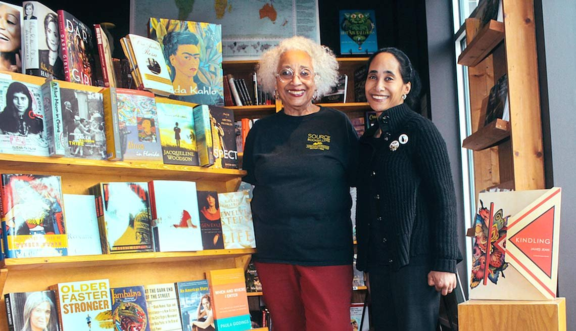 Janet Jones and daughter Alyson of Source Booksellers, Detroit