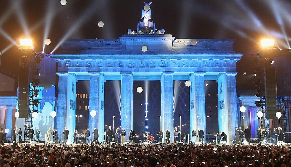 Celebración de la caída del muro de Berlin