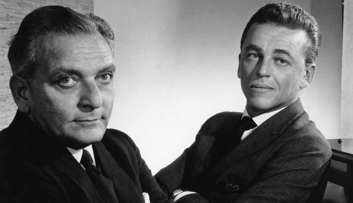Composer Frederick Loewe, left, and lyricist Alan Jay Lerner, right, wrote My Fair Lady together. The new title, My Fair Lady, was taken from the last line of the nursery rhyme