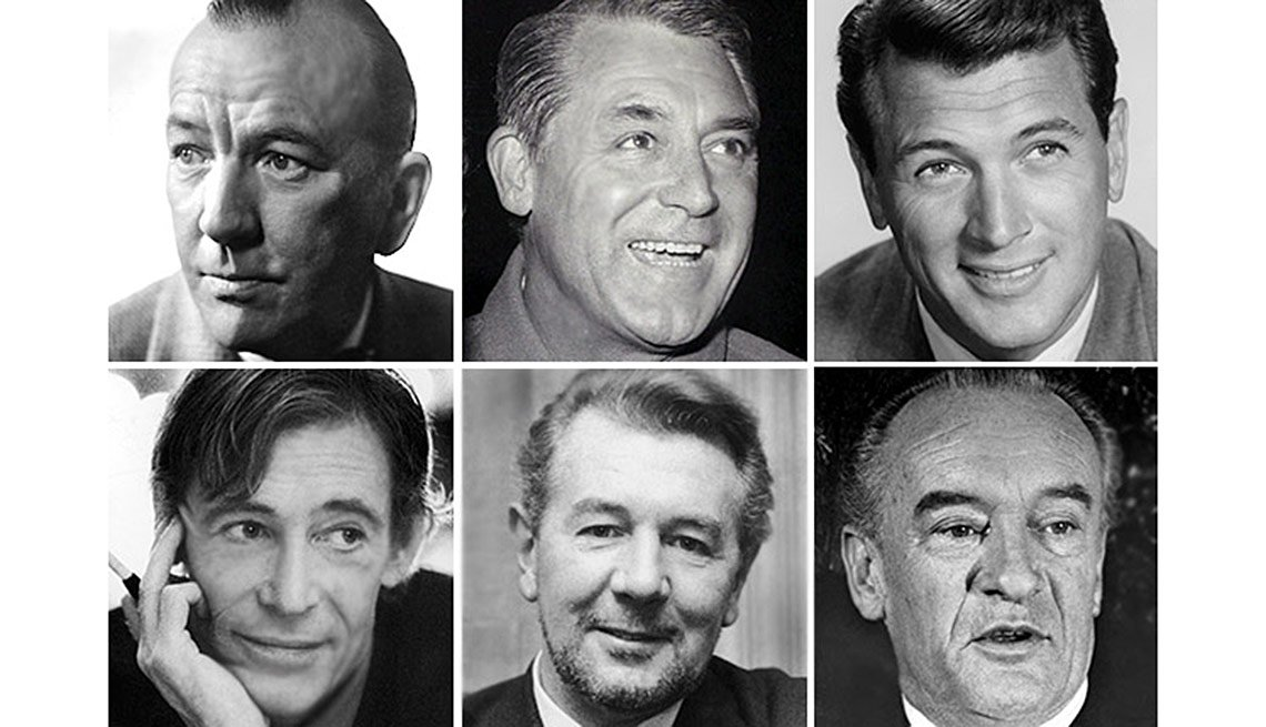 Some other actors considered for the role of Henry Higgins were, from top left to bottom right, Noel Coward, Cary Grant, Rock Hudson, Peter O'Toole, Michael Redgrave and George Sanders.