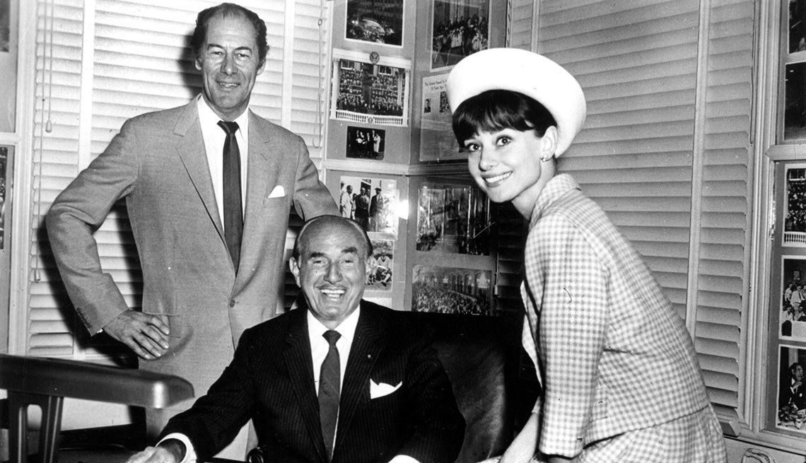 In 1962 the president of Warner Bros. Studios, Jack L. Warner, shown here with stars Rex Harrison and Audrey Hepurn, paid a record $5.5 million for the film rights to My Fair Lady