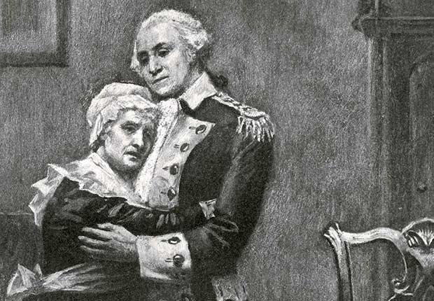 George Washington y su madre Mary Ball Washington - Mamas de los presidentes de Estados Unidos