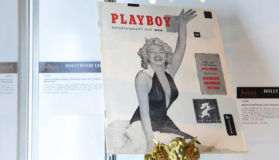 Marilyn Monroe en la portada de la primera revista Playboy