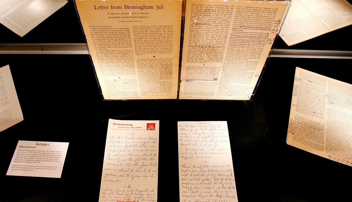 Martin Luther King, Jr., Letter From a Birmingham Jail, 1963 Was a Year With Lasting Impact, AARP Politics, Events And History