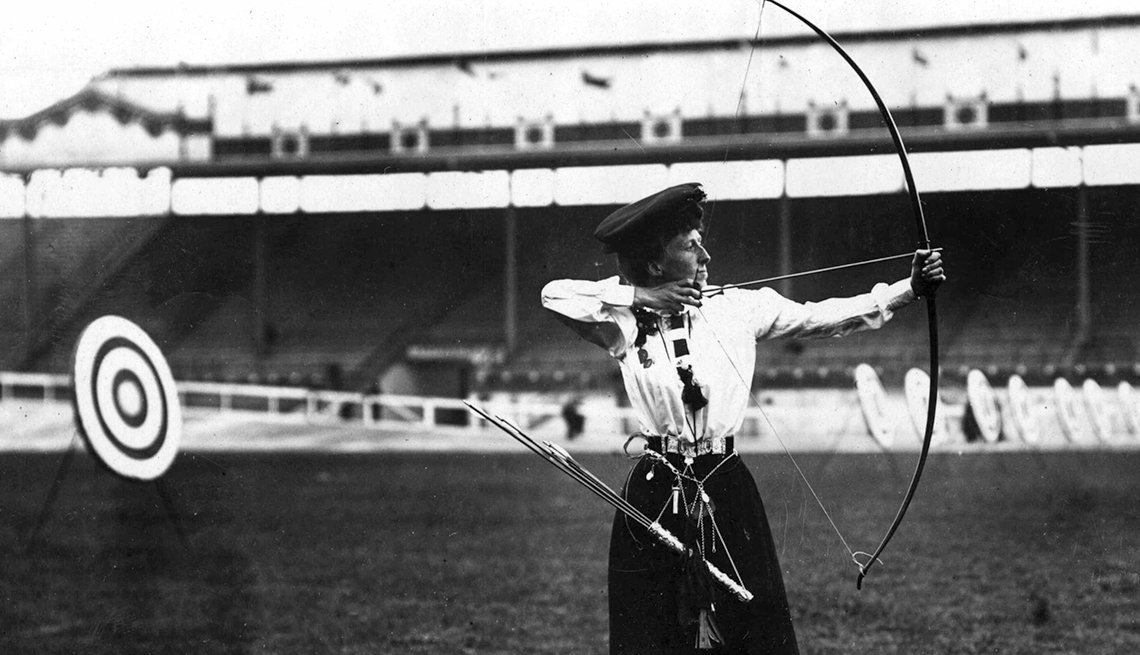 10 Great Older Olympians Who Went for the Gold - Queenie Newall, archery