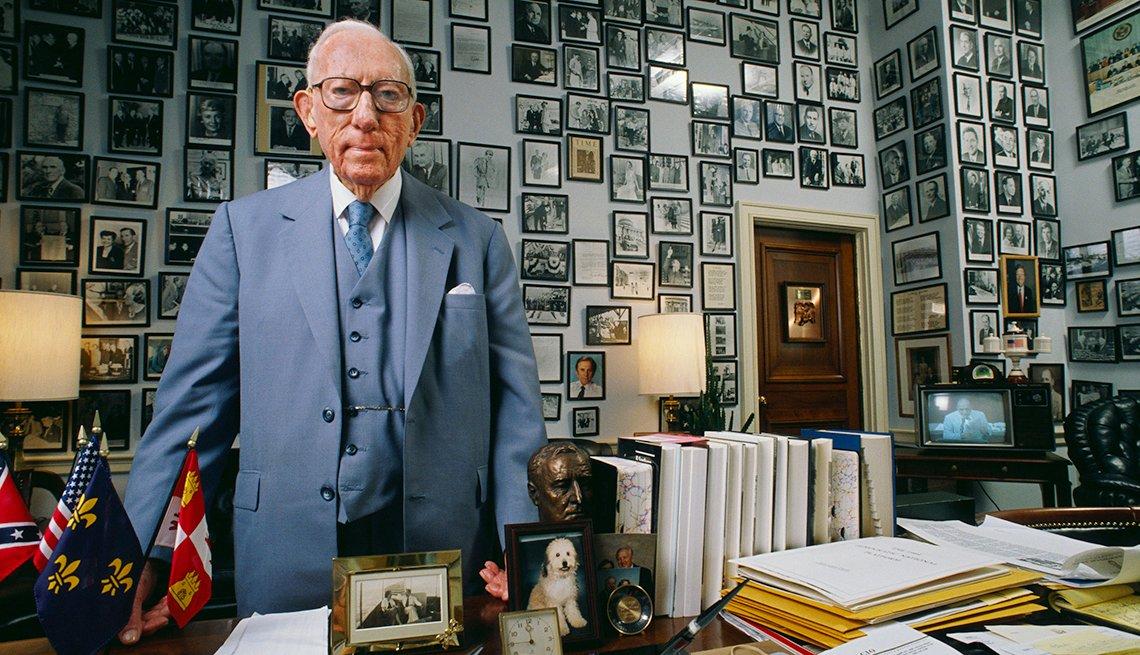 Florida Representative Claude Pepper in His Office