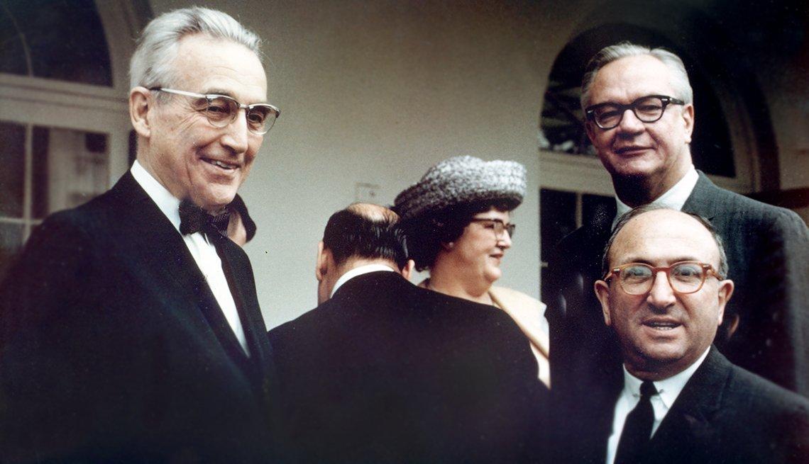 Robert M. Ball (upper right), 1914-2008.