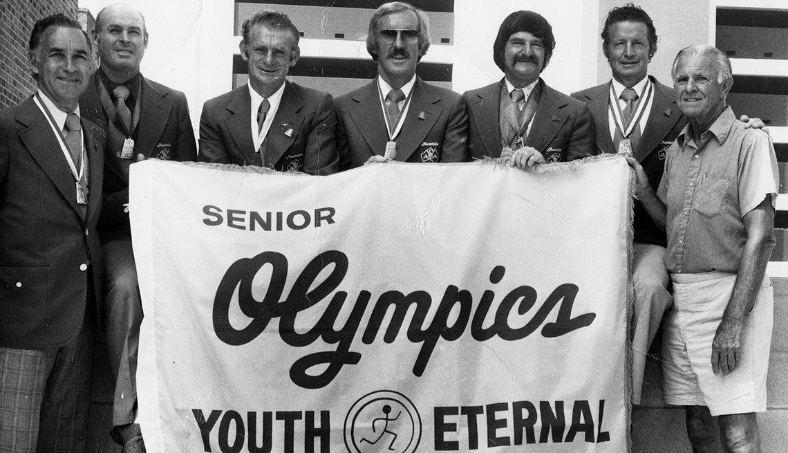 Warren Blaney (far right), 1904-2000