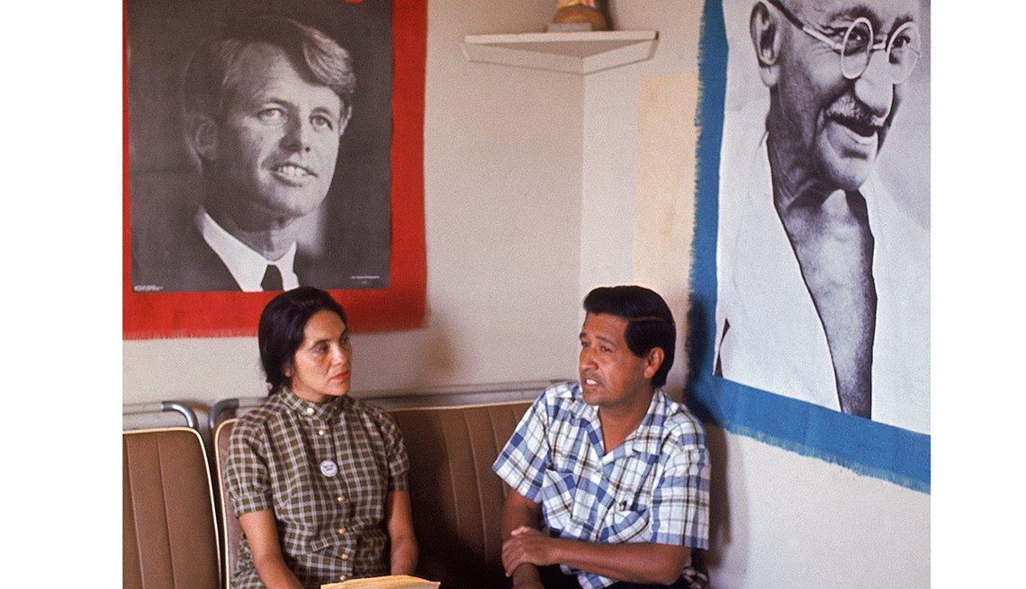 Dolores Huerta y César Chávez, Derechos Civiles chicanos