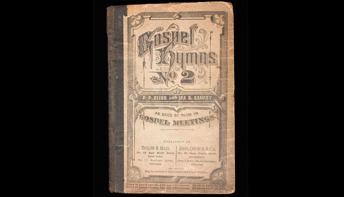 Harriet Tubman's hymn book, circa 1876
