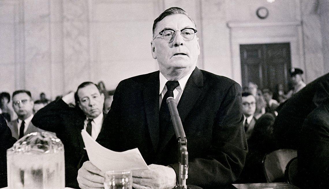 The Struggle for Civil Rights - Mississippi Gov. Ross R. Barnett testifies before the Senate Commerce Committee.