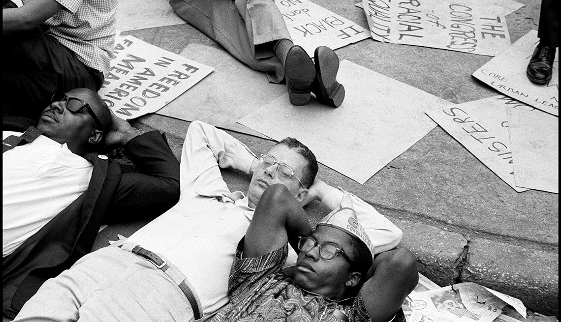 The Struggle for Civil Rights - Civil rights demonstration