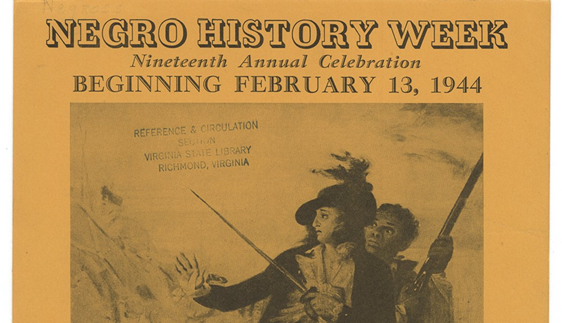 Portada de un boletín - Mes de la Historia Afroamericana