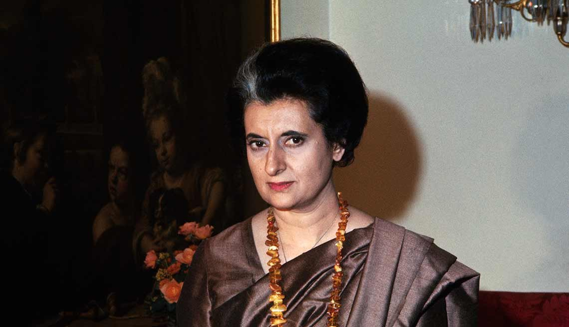 Indira Gandhi, primera ministra de India
