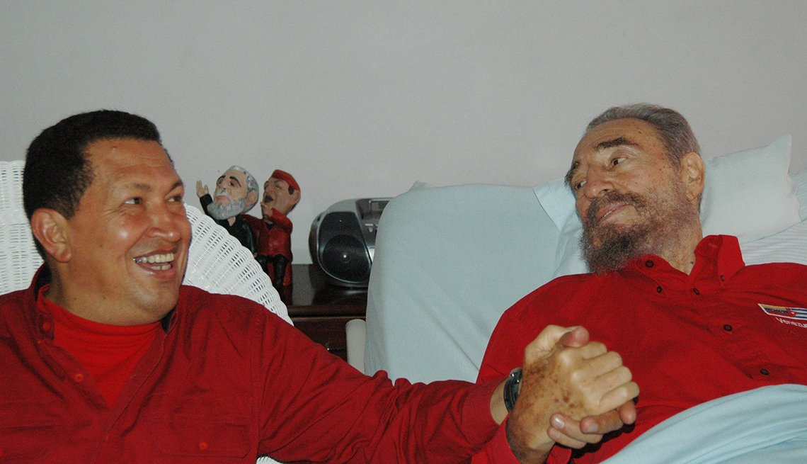 Hugo Chávez visita a Fidel Castro