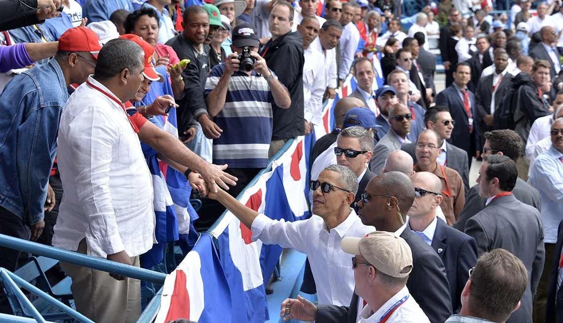 Barack Obama en su visita a Cuba