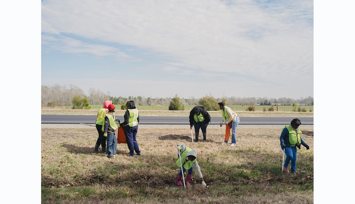Selam to Montgomery, members of Saint Paul CME Church participate in an organized clean up of U.S. Route 80