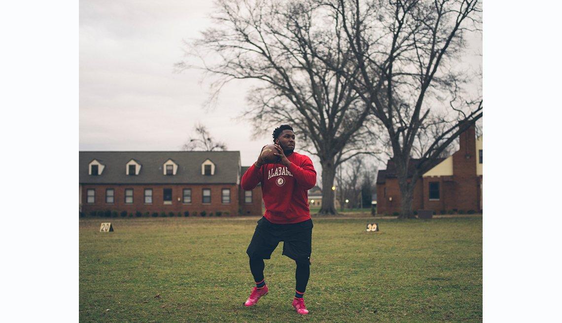 Selma to Montgomery, Concordia College student and quarterback of the football team, Marquez Gilmore