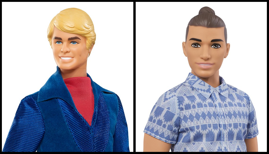A 1978 Ken Doll and 2017 Fashionistas Ken Doll