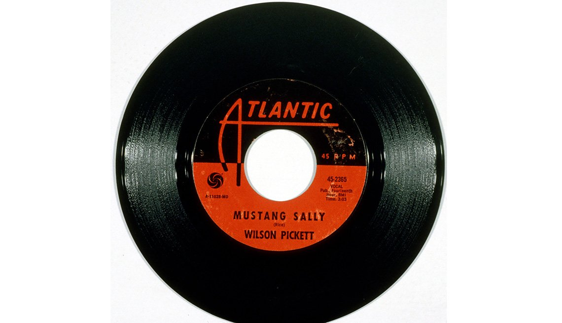 Mustang Sally, Wilson Pickett, 45 record, Single, Atlantic Label, Ford Mustang: A Great 50-Year Trajectory