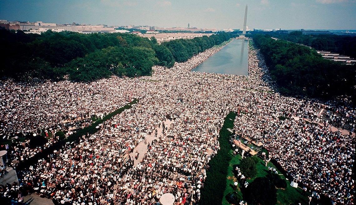 Marcha por el trabajo y la libertad en Washington D.C. en 1963