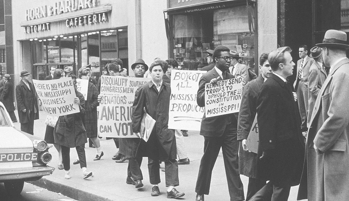 Protesta en Nueva York por la segregación