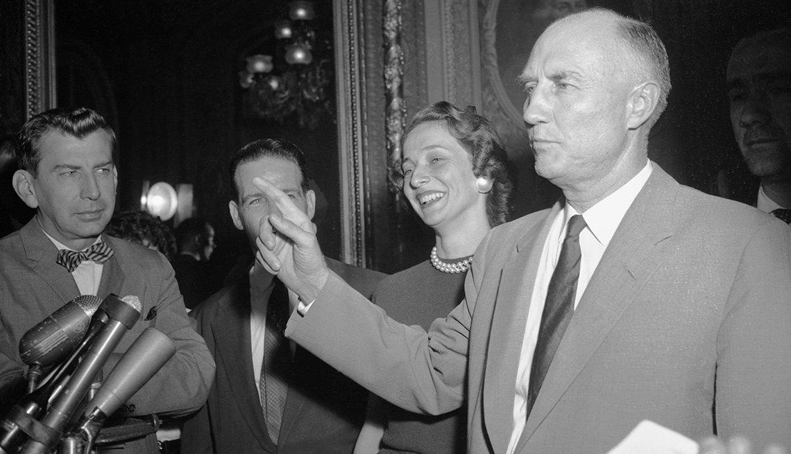Los senadores Richard Russell, Strom Thurmond y Robert Byrd