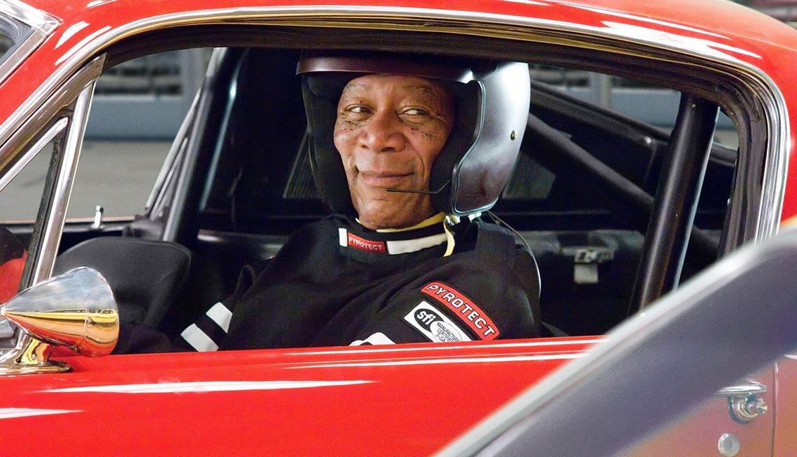 Morgan Freeman en la película, The Bucket List.