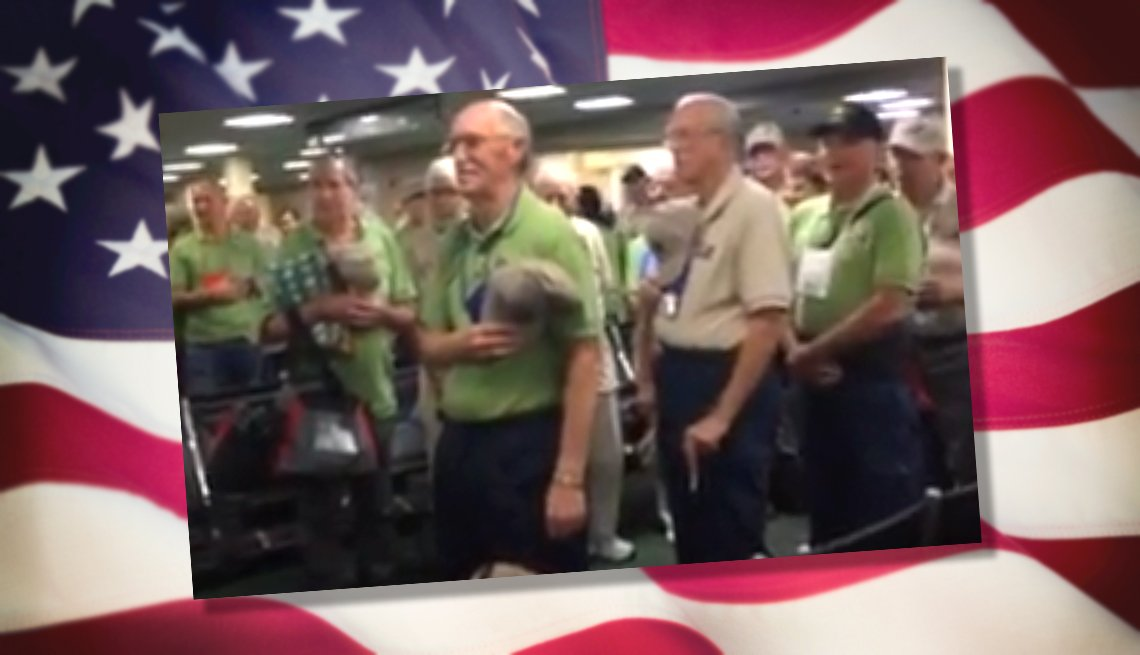 Veterans treated to stirring rendition of