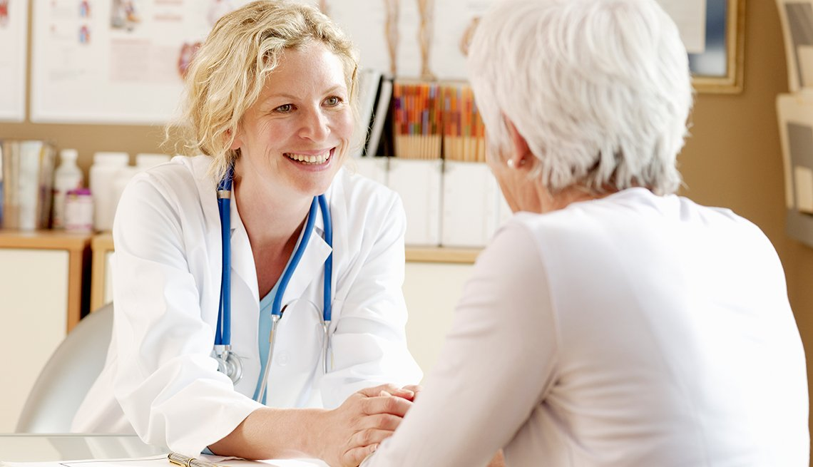 Physician meeting with mature patient, Public Policy Institute, Issues, Health