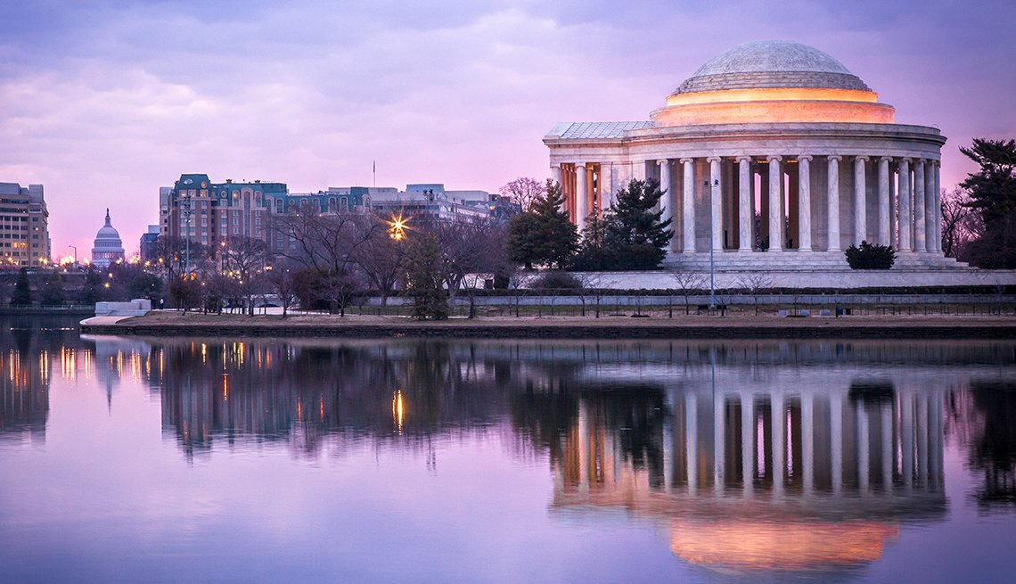 Jefferson Memorial, night, Washington, D.C., Public Policy Institute, AARP