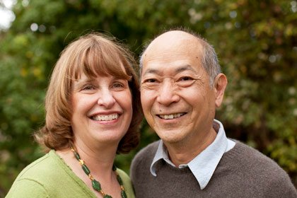 Jean and Peter Lin near their home in Saratoga, CA in February 2012-interracial couples